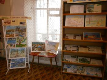 Книжно-иллюстративная выставка «Весенние  деньки»