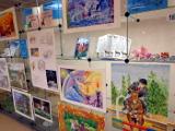 Выставка творческих работ, посвящённая лошадям, начала свою работу в большом зале Центральной библиотеки им. А. Н. Зырянова